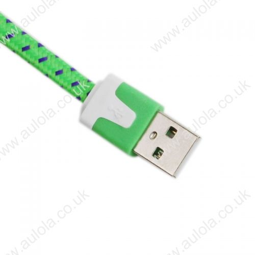 1M Knitted USB 2.0 to Charge&Data Cable for Iphone 4G/4S- Green