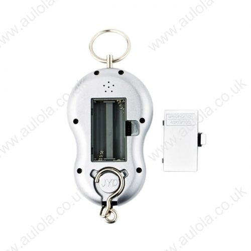 40kg x 10g LCD Luggage Hanging Digital Pocket Scale with Temperature