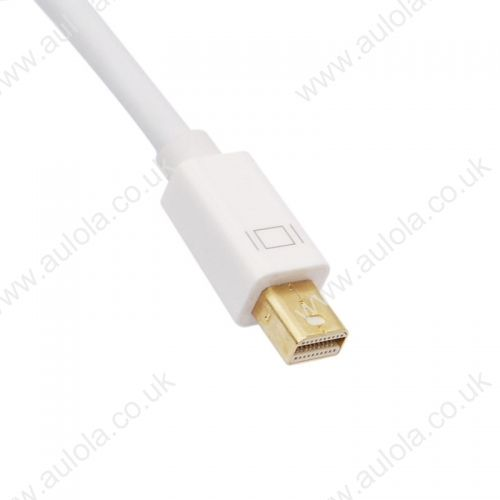 Mini Displayport DP 1.2 Male to HDMI 1.4 Female Conversion Cable- White