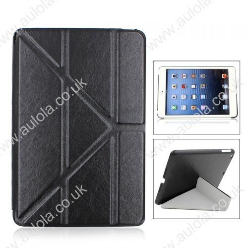 Silk Pattern Multi-Stand Cover Case for iPad Mini- Black