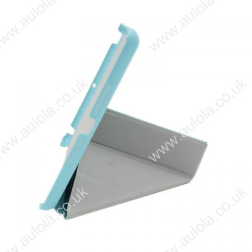 Silk Pattern Multi-Stand Cover Case for iPad Mini- Light Blue