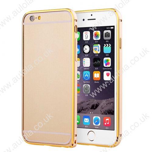 Slim Border Shockproof Bumper Frame Case with Golden Borders for iPhone 6 4.7- Golden