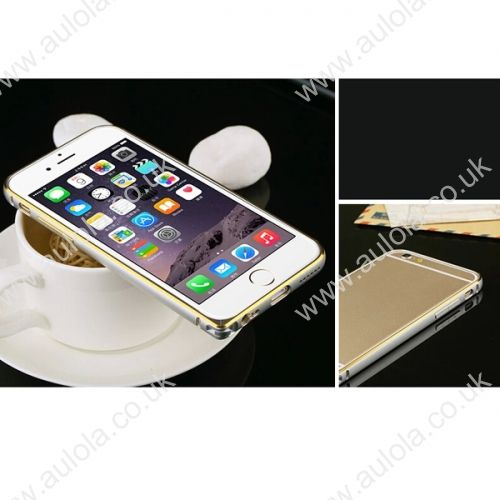Slim Border Shockproof Bumper Frame Case with Golden Borders for iPhone 6 4.7- Silver