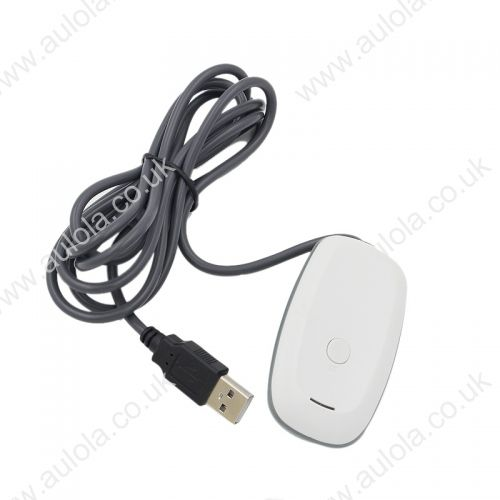 PC Wireless Gaming Controller USB Receiver Adapter for Xbox 360- White