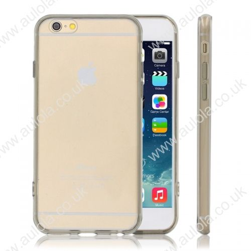 Transparent PC Back + TPU Border Case Cover for 5.5 Inch iPhone 6 Plus- Black