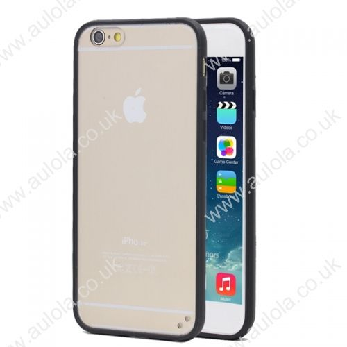 Transparent PC Back + Black TPU Border Case Cover for 4.7 Inch iPhone 6