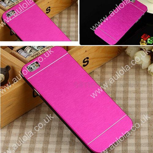 Motomo Metal Premium Luxury Brushed Aluminum Case for 5.5 Inch iPhone 6 Plus- Rose Red