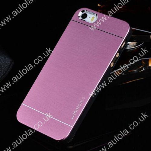 Motomo Metal Premium Luxury Brushed Aluminum Case for 5.5 Inch iPhone 6 Plus- Pink