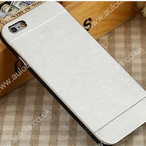Motomo Metal Premium Luxury Brushed Aluminum Case for 5.5 Inch iPhone 6 Plus- Silver