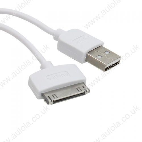 3M Length Connector to USB Power & Data Cable for Apple iPhone 4--White
