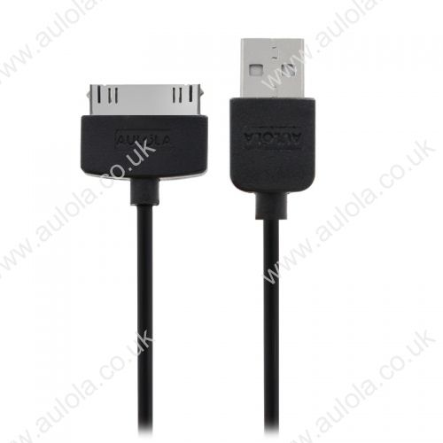 1M Connector to USB Data Sync Power Charger & Data Cable for Apple iPhone 4 iPod-Black