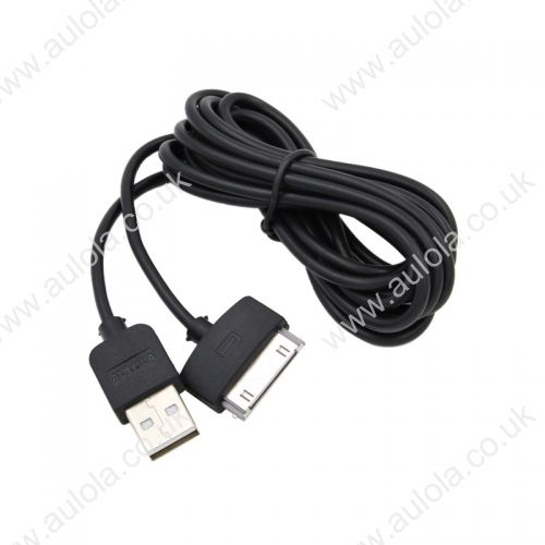 3M Length Connector to USB Power & Data Cable for Apple iPhone 4--Black