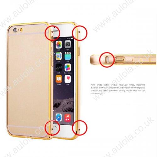 "Slim Border Shockproof Bumper Frame Case with Golden Borders for 5.5"" Inch iPhone 6 Plus- Golden"