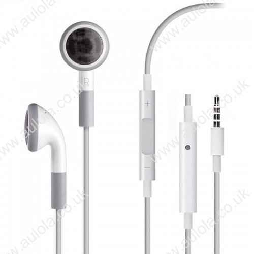 Earphones Handsfree Remote Volume Mic for iPhone 4/4S/3GS - White