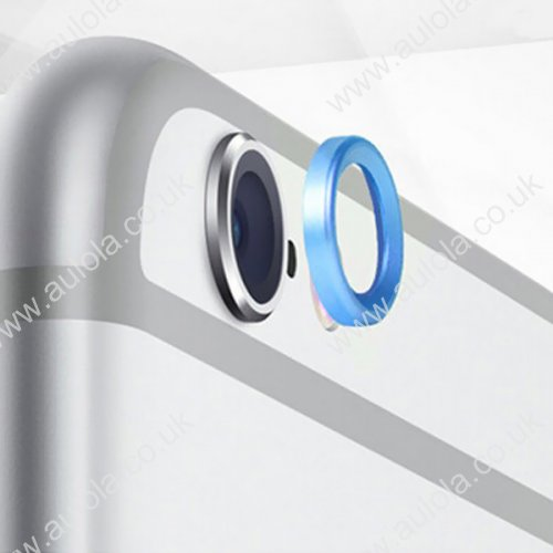"""Moblie Rear Camera Lens Protective Ring for iPhone 6 5.5"""" - Blue"""