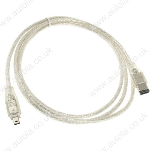 1.8m IEEE 1394 FireWire 6 Pin to 4 Pin  Cable