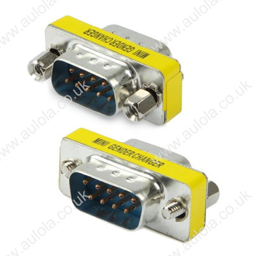Serial RS232 DB9 9 Pin Male to Male Adapter Connector