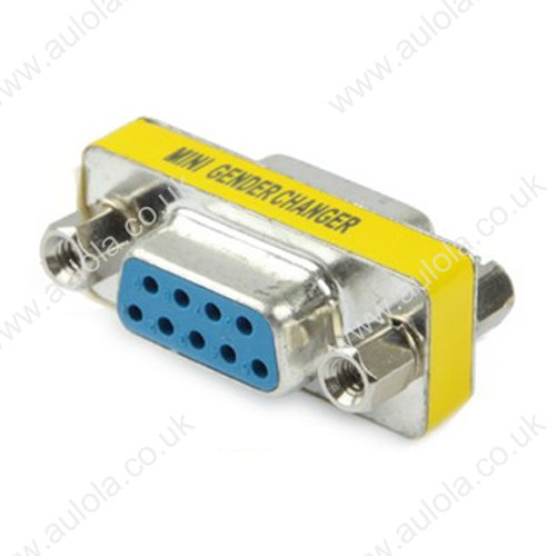 Serial RS232 DB9 9 Pin Female to Female Adapter Connector