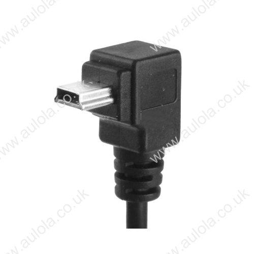 90 Degree Mini USB Male to Mini USB Female Cable