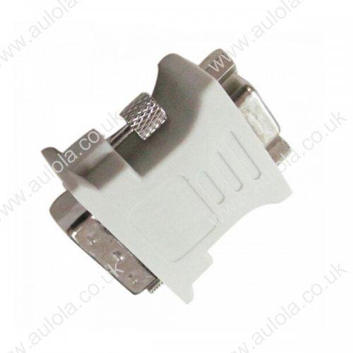 DVI(24+5) Male to VGA Female Adapter Connector White