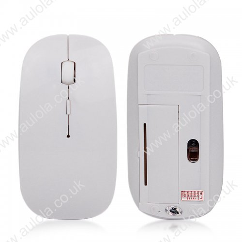 Ultra Thin 2.4G USB Wireless Mouse for PC/Laptop- White