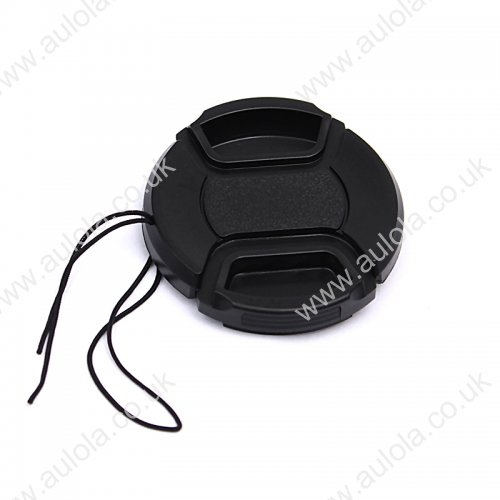 52MM Snap Front Lens Cap Cover for Sony, Nikon, Pentax, Canon