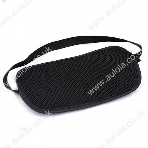 Travel Waist Belt Zipped Passport Wallet Pouch Security Bag -Black