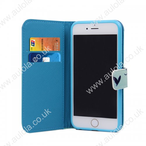 Magnetic Flip Stand Leather Case with Pocket for iPhone 6 4.7 -Butterfly
