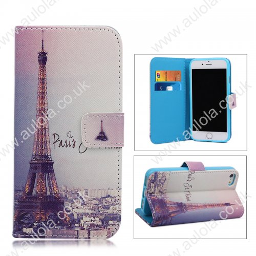 Magnetic Flip Stand Case with Pocket for iPhone 6 4.7 -Eiffel Tower