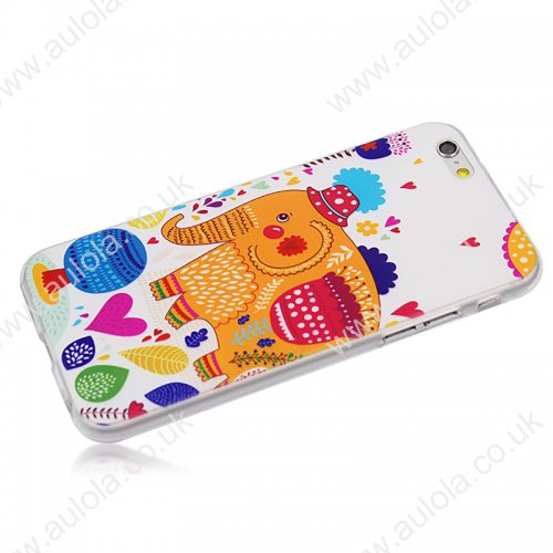 Elephant Pattern TPU Phone Case for iPhone 6 4.7