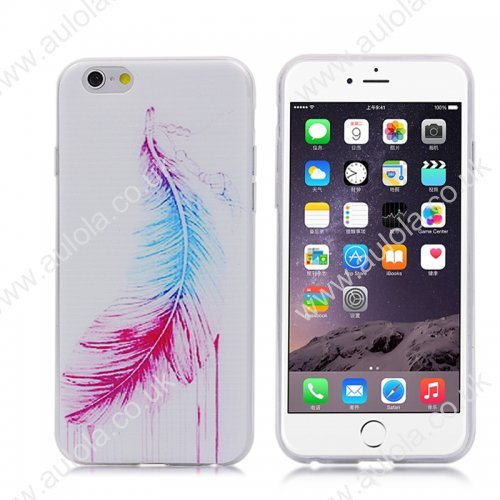 Feather Pattern TPU Phone Case for iPhone 6 4.7