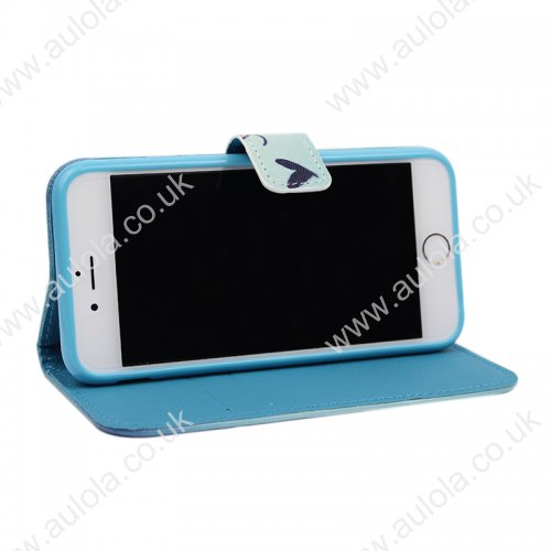 Butterfly Magnetic Flip Stand Leather Case for iPhone6 5.5