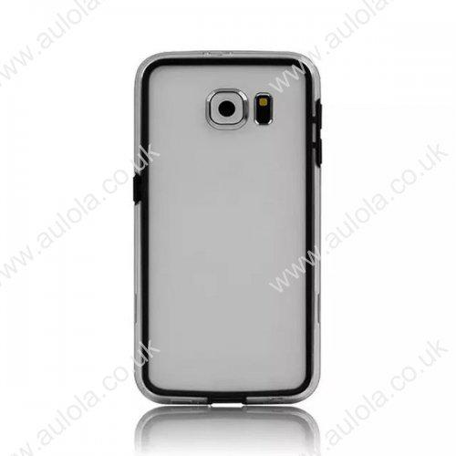 Color Border + Transparent Back 2 in 1 Case for Samsung Galaxy S6 - Black
