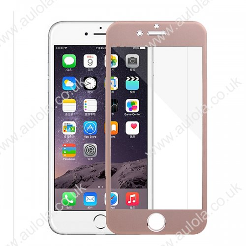 Metal Alloy Tempered Glass Full Screen Protector for iPhone 6 4.7 -Gold