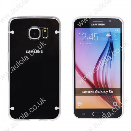 Four Noctilucent Dot PC+TPU Case for Samsung Galaxy S6 - White