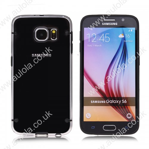 Four Noctilucent Dot PC+TPU Case for Samsung Galaxy S6 - Black