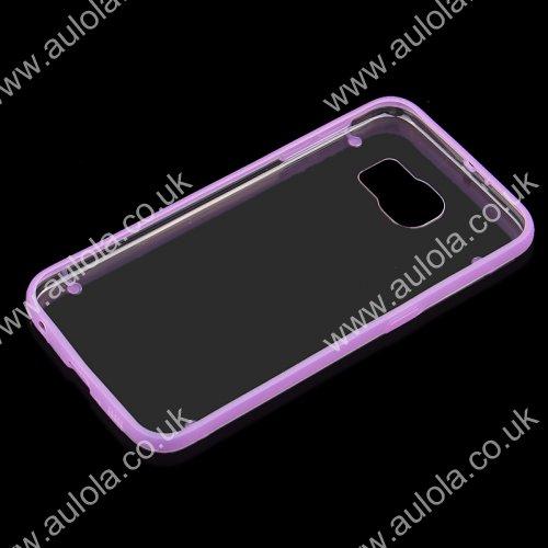 Four Noctilucent Dot PC+TPU Case for Samsung Galaxy S6 - Purple