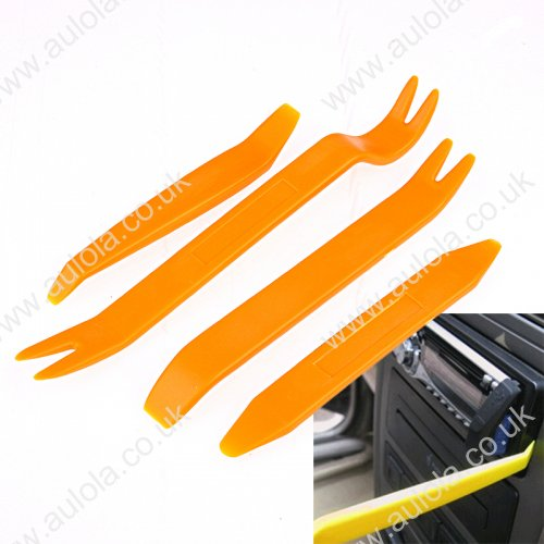 4pcs Car Door Plastic Trim Panel Dash Remover Pry Tool Kit
