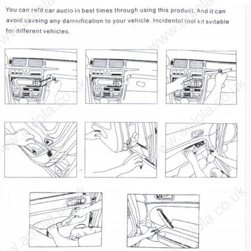 4pcs Car Door Plastic Trim Panel Dash Remover Pry Tool Kit