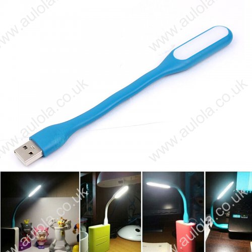 Xiaomi MI Portable Bendable Mini USB LED Light - Light Blue