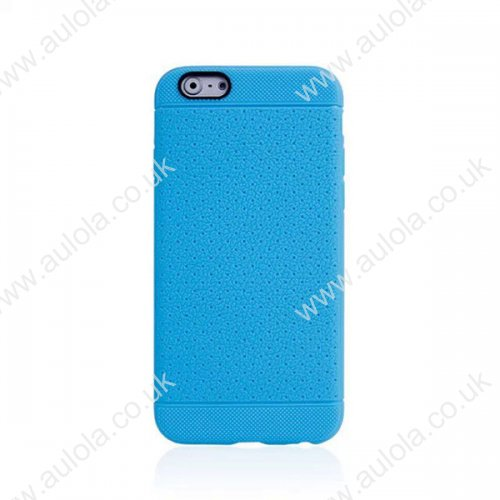 Mesh Honeycomb TPU Case for iPhone 6 4.7 - Blue