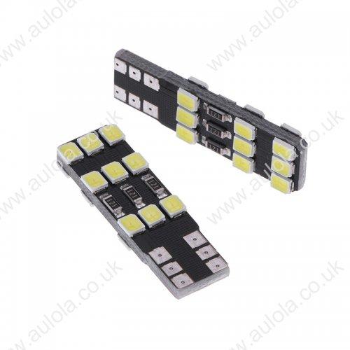 T10-2835-18SMD Canbus LED Car Width Light Lamp White