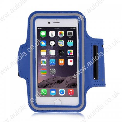 Adjustable Armband Armlet Velcro Strap for iPhone 6 4.7 - Dark Blue