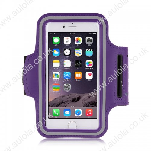 Adjustable Armband Armlet Velcro Strap for iPhone 6 4.7 - Purple