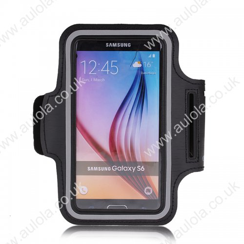 Adjustable Armband Armlet Velcro Strap for Sumsang S6/ S6 Edge - Black