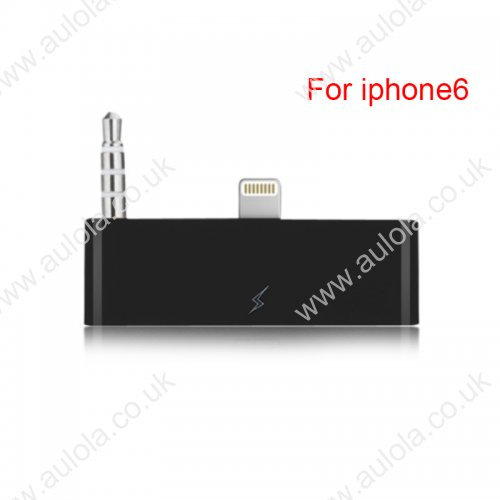 30 Pin To 8 Pin Audio Adapter Converter for iPhone 6 - Black