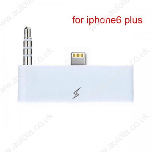 30 Pin To 8 Pin Audio Adapter Converter for iPhone 6 Plus - White