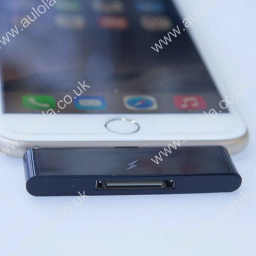 30 Pin To 8 Pin Audio Adapter Converter for iPhone 6 Plus - Black