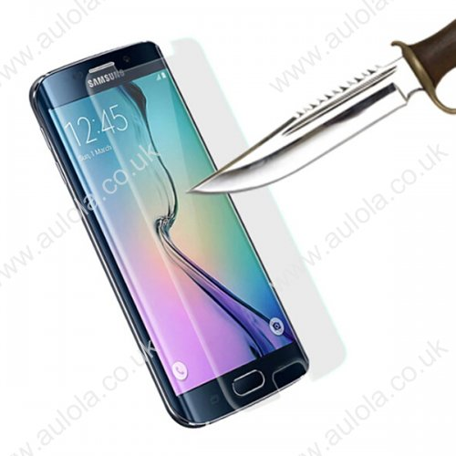Clear Tempered Glass Protector Straight Edge for Samsung Galaxy S6 Edge