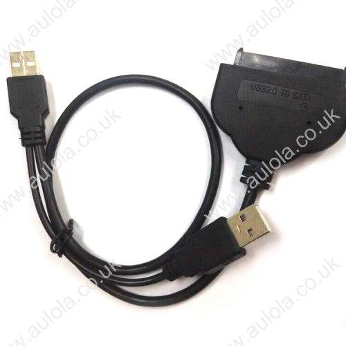 """0.45m USB 2.0 to 2.5"""" SATA 7+15Pin Hard Drive Adapter Cable"""
